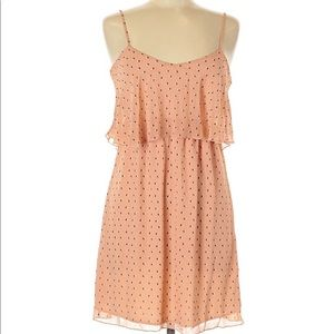NWT Charming Charlie pink heart  tiered dress